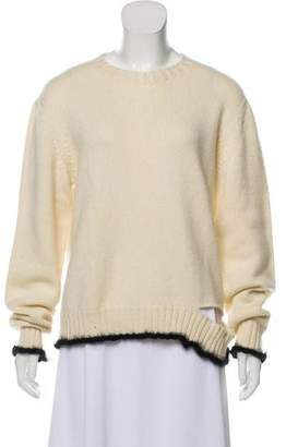 Celine Cashmere & Mohair Distressed Sweater