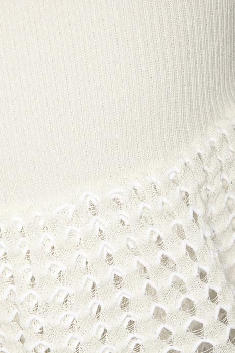 Alexander McQueen Ribbed and open-knit peplum dress