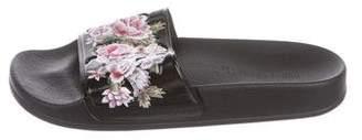 Alberta Ferretti Patterned Slide Sandals w/ Tags