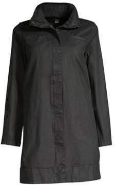 Eileen Fisher Hidden Hood A-Line Coat