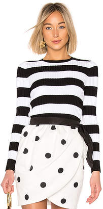 Cynthia Rowley Striped Ribbed Sweater