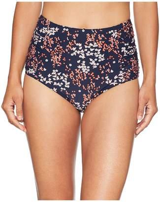 MICHAEL Michael Kors Scattered Blooms High-Waisted Bikini Bottoms Women's Swimwear
