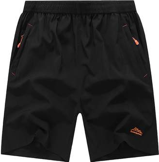 "Muzboo Men's Big and Tall 10"" Quick Dry Cargo Shorts(Black 4XL)"