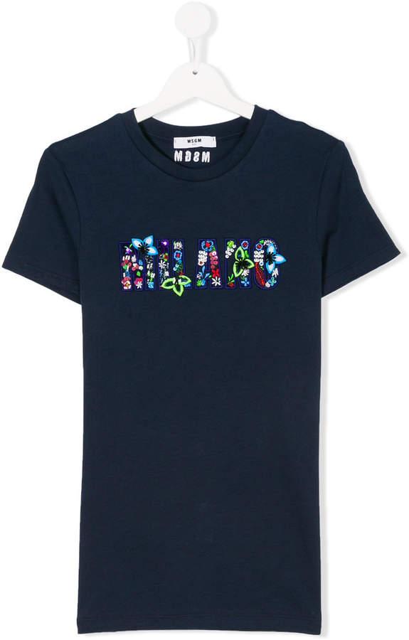 Milano slogan patch T-shirt