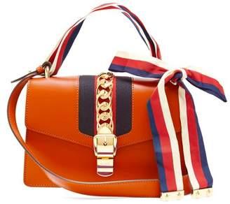 Gucci Sylvie Leather Shoulder Bag - Womens - Orange