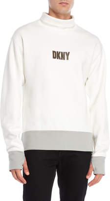 DKNY Funnel Neck Logo Sweatshirt