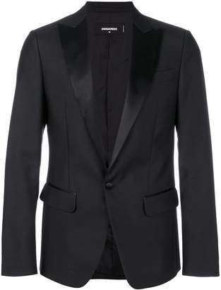 DSQUARED2 satin peaked lapel blazer