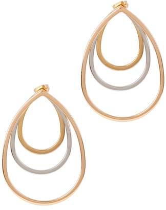 Vita Fede Sophia 3 Tone Detachable Pendant Earrings