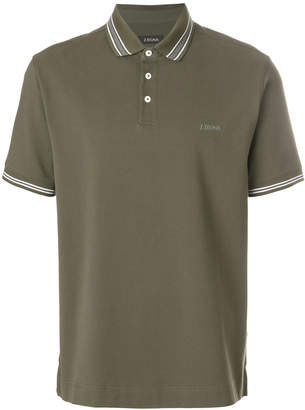 Z Zegna contrast-trim polo top