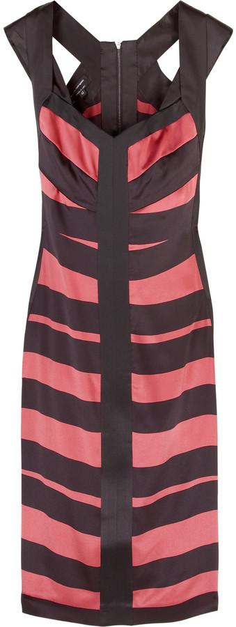 Narciso Rodriguez Striped silk pencil dress