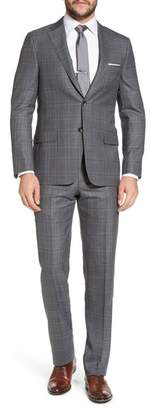 Hickey Freeman Classic B Fit Plaid Wool Suit