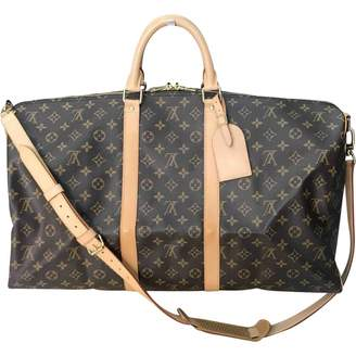 Louis Vuitton Keepall Brown Leather Travel Bag