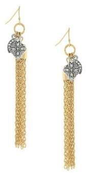 Jessica Simpson Crystal Chain Earrings