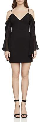 BCBGMAXAZRIA Pamella Bell Sleeve Cold-Shoulder Dress
