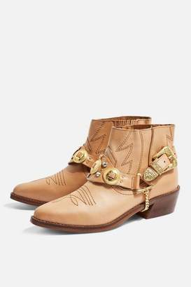 Topshop AXE Pointed Western Boots