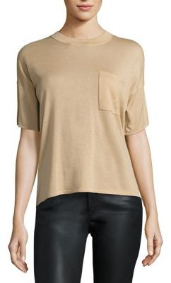 Polo Ralph Lauren Cashmere Pocket Tee $245 thestylecure.com