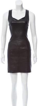 Jitrois Leather Bodycon Dress