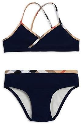 Burberry Girls' Check Trim 2-Piece Swimsuit - Little Kid, Big Kid