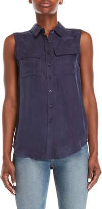 Romeo & Juliet Couture Romeo + Juliet Couture Sleeveless Button-Down Shirt