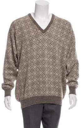 Pringle Printed Wool Sweater brown Printed Wool Sweater