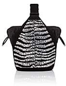 Bienen-Davis Women's The Kit Zebra-Pattern Suede Bracelet Bag - Black