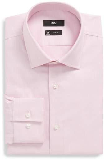 Jenno Slim Fit Solid Dress Shirt