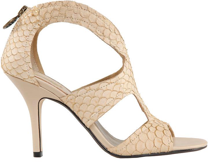Max Studio Exotic Skin T-Strap High Heels