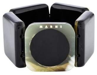 Marni Horn & Resin Stretch Bracelet