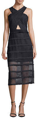 Sam Edelman Eyelet Lace Midi Dress
