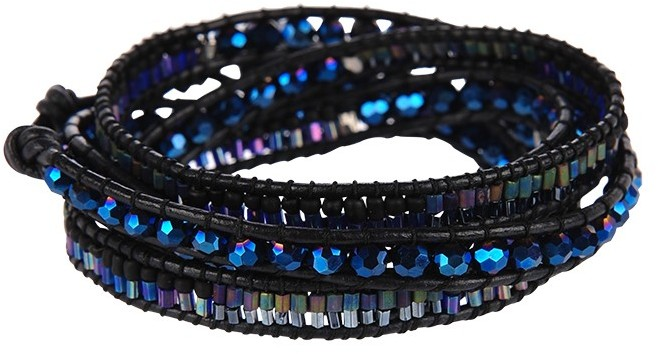 Nakamol Blue Metallic Wrap Bracelet