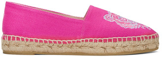 Kenzo Pink Canvas Tiger Espadrilles $155 thestylecure.com