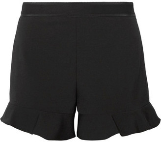 REDValentino - Ruffled Cady Shorts - Black $235 thestylecure.com