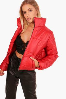 boohoo Crop Padded Jacket