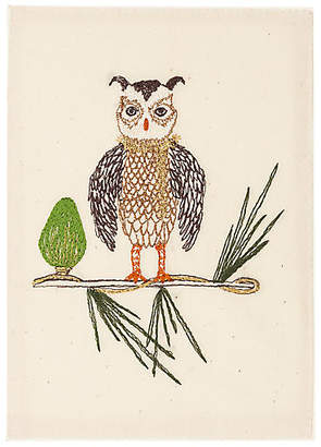 Coral & Tusk Owl Tree Embroidered Stationery