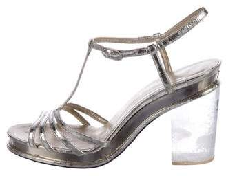 Chanel Metallic Leather Sandals
