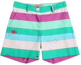 Emilio Pucci Striped Cotton Shorts