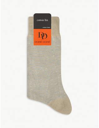 Dore Dore Cotton and linen stripe socks
