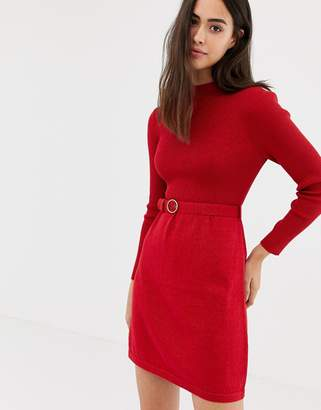 Free People French Girl belted dress