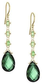 Amali Amali 18K Yellow Gold, Quartz& Tsavorite Drop Earrings
