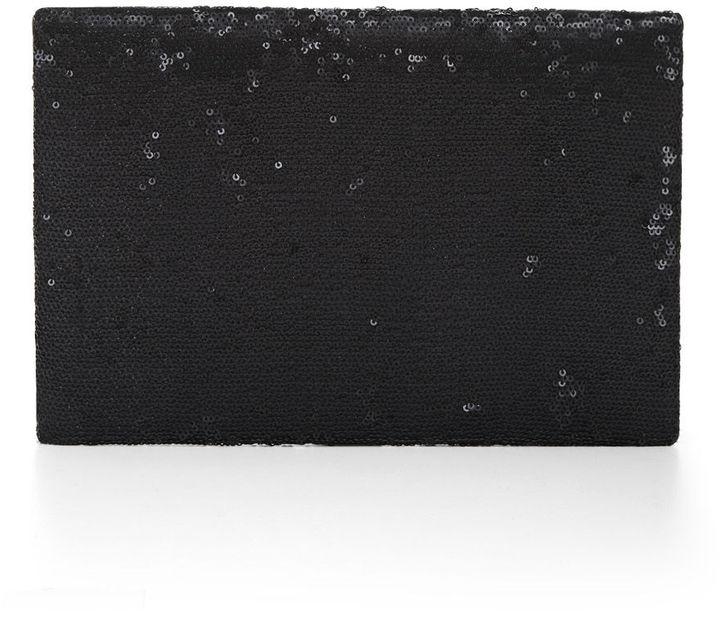 BCBGMAXAZRIA Harlow Matte-Sequined Envelope Clutch