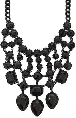 Forever 21 Faux Obsidian Bib Necklace