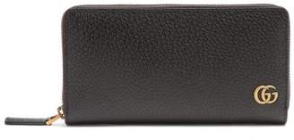 Gucci - Gg Marmont Zip Around Leather Wallet - Mens - Black