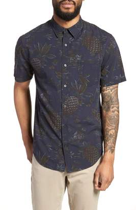 Vince Classic Fit Tropical Short Sleeve Sport Shirt