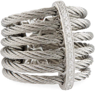 Alor Classique Multi-Row Micro-Cable Band Ring, Size 7, Silver