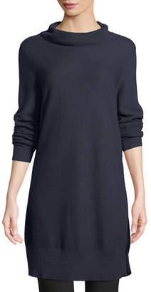 Eileen Fisher Tencel/Silk Turtleneck Tunic Sweater