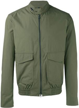 Fay plain biker jacket