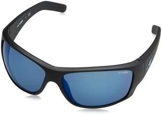 7d4ed707fd Arnette Men s Mirrored Heist 2.0 AN4215-01 55-66 Black Rectangle Sunglasses