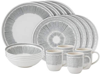 ED Ellen Degeneres By Royal Doulton 16Pc Ed Lines Porcelain Dinnerware Set