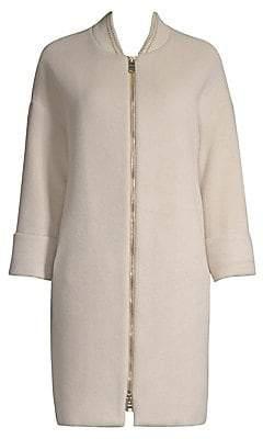 Herno Women's Virgin Wool Silk Trench Coat