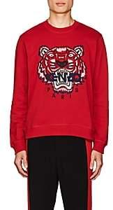 Kenzo Men's Appliquéd Cotton Fleece Sweatshirt - Red